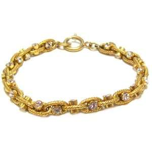 Catherine Popesco 14K Gold Plated Chunky Etched Link Bracelet