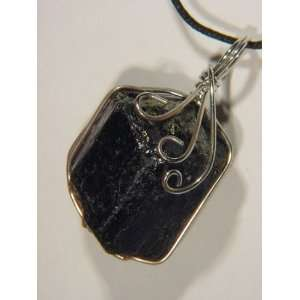 Wire Wrapped Pendant Necklace Jewelry with Cord