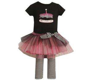 Bonnie Jean Girls Tulle Cupcake Birthday Dress & Leggings Outfit Set 4