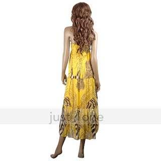 Chic Women Lady Girl Beachwear Sleeveless Long Chiffon Skirt