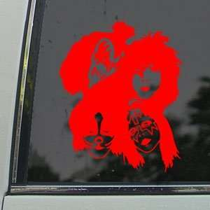 KISS Red Decal Band Rock Band Car Truck Window Red Sticker