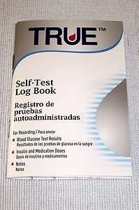True Diabetes Glucose Daily Diary Log for Self Monitoring Book Journal