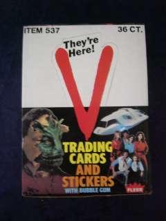 1984  V  TRADING CARD WAX BOX with (36) PACKS  NICE