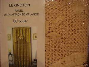 Lace Curtain Panel with Attached Valance