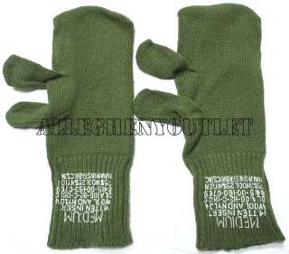 USGI Military Army Wool M65 Trigger Finger Mitten INSERTS Medium OD