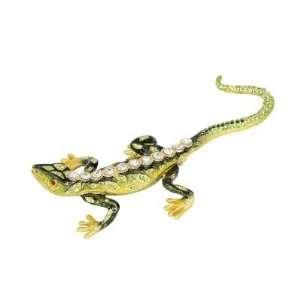 Rainforest Lizard Trinket Box