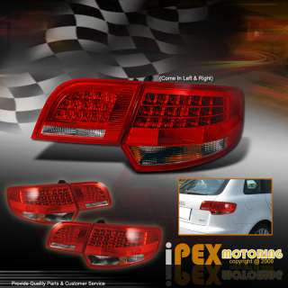 2006 2008 AUDI A3 2.0T 3.2 DSG ULTRA EURO CLEAR RED LED TAIL LIGHTS