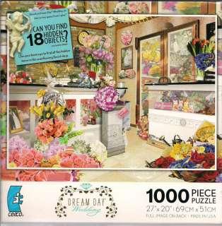 CEACO BRAND 1000 PIECE JIGSAW PUZZLE DREAM DAY WEDDING FIND 18 HIDDEN