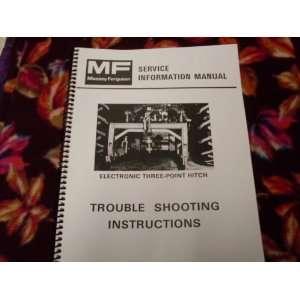 com Massey ferguson Electronic 3 pt Hitch OEM Service Manual Massey