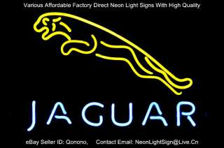 JAGUAR LOGO AUTO DEALER STORE BEER BAR NEON LIGHT SIGN