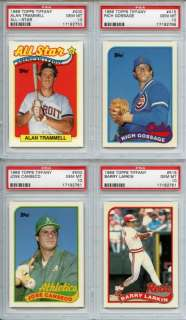1989 Topps Tiffany 400 Alan Trammell AS PSA GEM MT 10