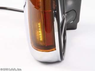 Turn Signal Chrome Power Electric Tow Towing Trailer Mirror