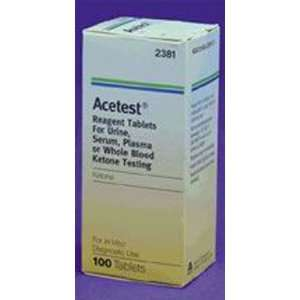 PT#  2381 PT# # 2381  Acetest Ketone Urine Test Strip Reagent Level 1