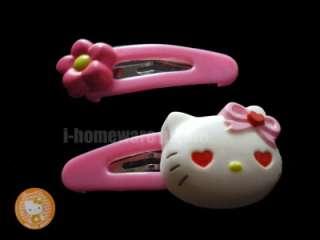 Hello Kitty Sanrio License Head Hair Clips Pins Hairpin H328