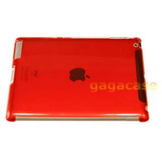 Red iPad 2 Snap On Hard Back Case Work w/ Smart Cover