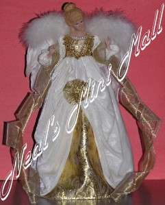 Gold/off white Christmas Angel   Tree/Table Top 16.7 tall