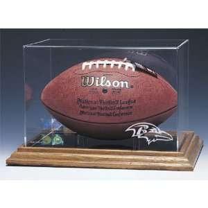 Baltimore Ravens Nfl Football Display Case (Wood Base