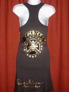 NEW Paco Chicano Womens Foil Tank Top Dress, SZ L $94!!
