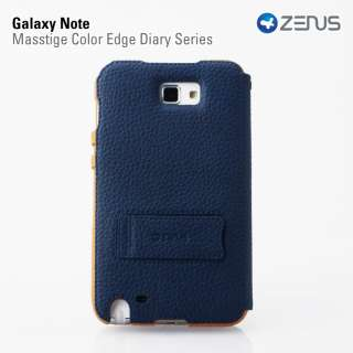 navy blue two tone galaxy note i717 N7000 bi fold case pouch holster
