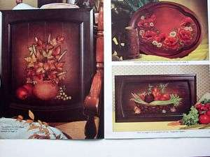 Tole Style decorative painting patterns flowers 1974