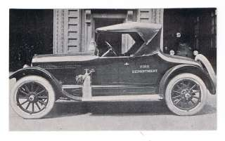 CHIEF ENGINEERS CAR Baltimore City Fire Dept. 1920 Postcard