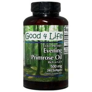 Evening Primrose Oil 240 caps (Cold Pressed) Health