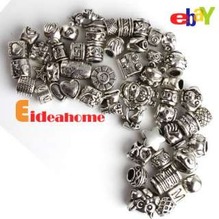 Free Ship 150X 50 Mixed Tibetan Silver Charms Beads Fit Bracelet