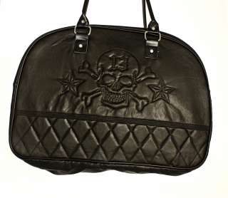 Lucky 13 Thirteen Travel Bag Black Skull Tote Bag