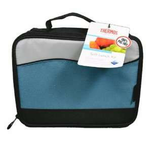 Thermos Insulated Soft Lunch Box Kit Cooler Bag Black/Blue