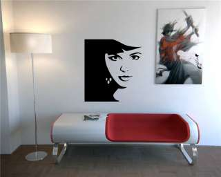 BEAUTIFUL SEXY GIRL LADY WOMAN WALL VINYL STICKER DECALS ART MURAL