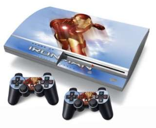 US SHIP Iron Man Vinyl Decal Sticker Skin Sony PlayStation 3 PS3 2