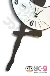 Contemporary Retro Modern Large Metal Wall ARt Clock