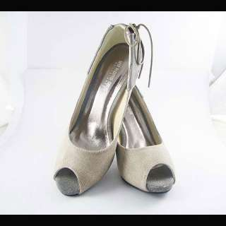 Fashion Splice Knot Peeptoe Heels Womens Shoe 2 Clr Sz 5 9 QA09