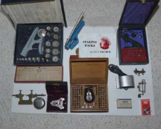 LOT ASSORTMENT VINTAGE WATCHMAKERS TOOLS [NICE GROUP]