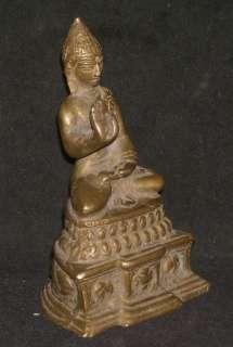 Indian Hindu Ritual Bronze Statue Of Buddha Good Collectible