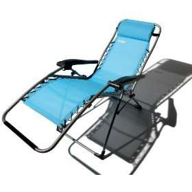 Anti Gravity Adjustable Recliner Patio Chair BLUE~NEW
