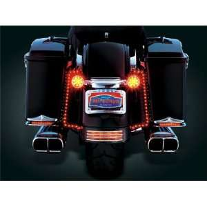 Skinni Mini Ultra Bright L.E.D. Strip Lights   19 Inch Red Pair