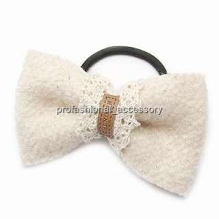 KH042 Korean Style Chic Fabric Ribbon Bow Hair Tie Band