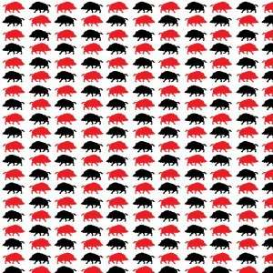 HOGS WHITE, RED & BLACK PATTERNS Vinyl Decal Sheets 12x12