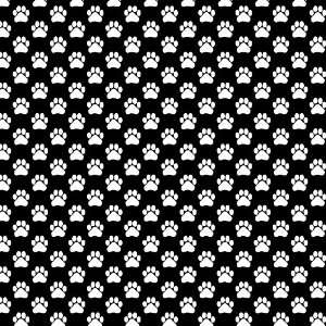 DOG PAWS PATTERN BLACK & WHITE Vinyl Decal Sheets 12x12 x3 Great for