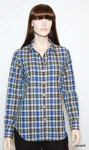 NWT $190 THEORY NIKALA PLAID SHIRT TOP BLOUSE ~MULTI *M 670666826728