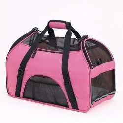 Bergan Comfort Carrier Large Pink Pet Dog Soft Tote