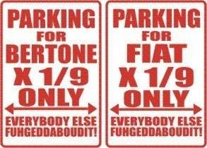 BERTONE FIAT X 1/9 Parking Sign MAGNET
