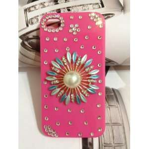 Designer Bling Flower Crystals Case Apple for Iphone 4 and 4s [Limited