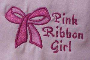 Breast Cancer Pink Ribbon Girl Bow S/S Pink T Shirt S