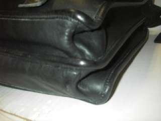VINTAGE COACH ESSEX Briefcase #5274 Business Soft Black Leather Laptop