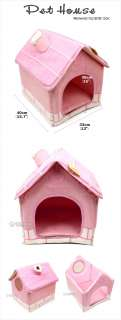 INDOOR CHIMNEY PET DOG CAT CUSHION BED HOUSE ~PINK