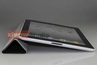 Black iPad 2 Slim Magnetic Smart Cover with Hard Case 2 Tone