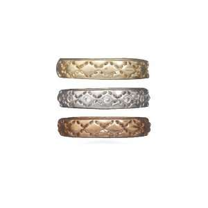 14 Karat Gold Plated And Rose Tone BandSize 7 CleverSilver Jewelry