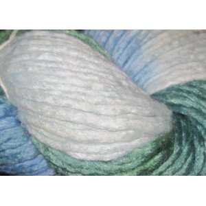 Coliumo Multi Hand Dyed Wool Silk Color 15 Blue Green Silver 1 100g Sk